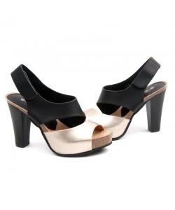 Čiernozlaté sandálky EVENTO