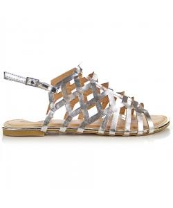 Strieborné sandálky EVENTO