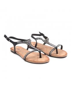 Čierne sandálky EVENTO