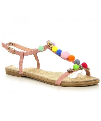 c4abc92a7907 Ružové sandálky EVENTO