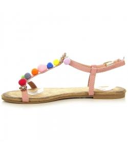 Ružové sandálky EVENTO
