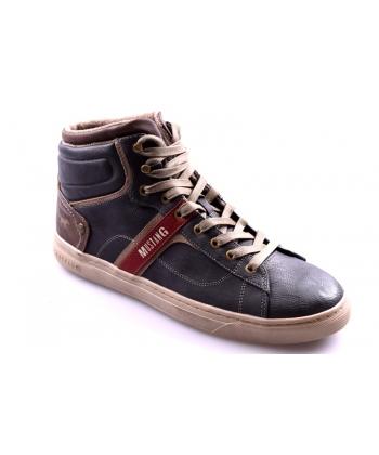 e52ea60936777 Pánske tmavosivé topánky MUSTANG