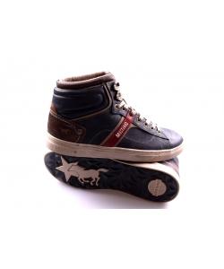 febaf67c3 Pánske tmavosivé topánky MUSTANG Pánske tmavosivé topánky MUSTANG