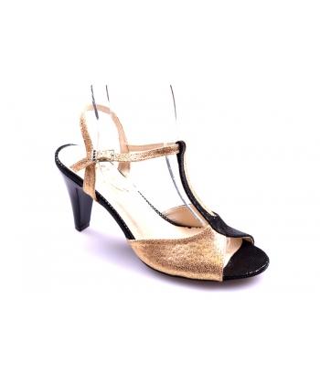 d70e55cad65e Sandále čierno-zlaté ZUREK