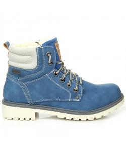 f65d1843e UNI modré čižmy WISHOT UNI modré čižmy WISHOT