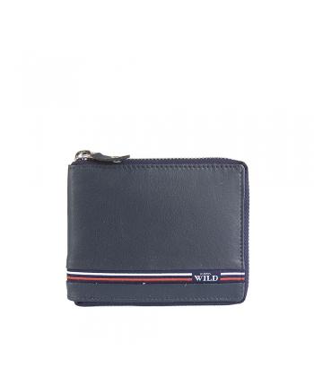 Pánska modrá peňaženka WILD 2b9008f562f