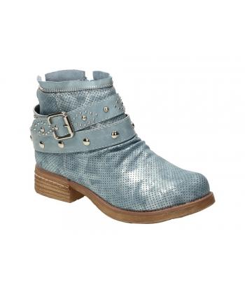 Členkové topánky modré WISHOT 9b6ad4bf961