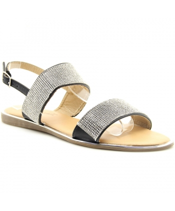 db8afe8cf4 Dámske čierne sandálky Wishot