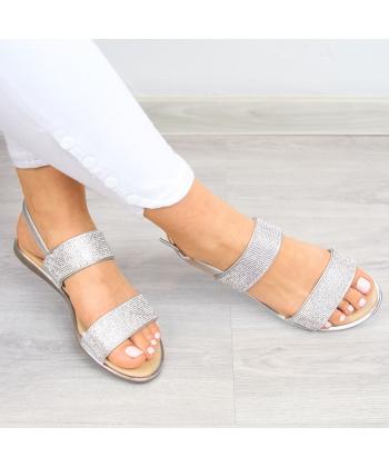 a2d15d6ad8 Dámske strieborné sandálky Wishot