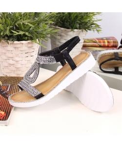 Dámske čierne sandálky Wishot