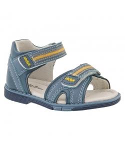 Detské modré chlapčenské sandálky Wojtylko