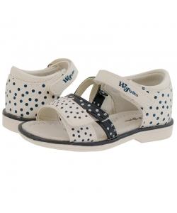 Detské dievčenské biele sandálky Wojtylko