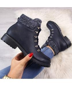 d20871042c Dámske modré členkové topánky ...