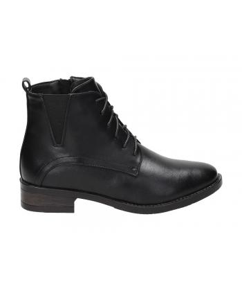 Dámske čierne členkové topánky 490b7613a77