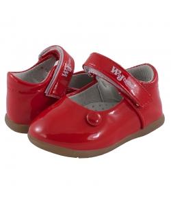 Dievčenské červené balerínky Wojtylko