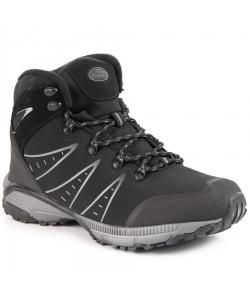 Pánske čierne trekingové topánky