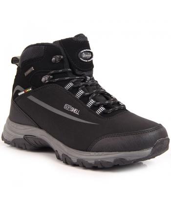 005241aef3c40 Pánske čierne trekingové topánky