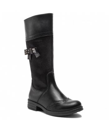 Dievčenské čierne čižmy Renbut 9e0cc9b3c18