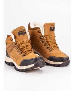 c4f17a04f70a Chlapčenské zimné hnedé topánky ...