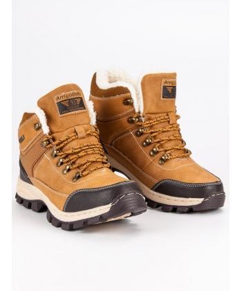 08b774d803424 Chlapčenské zimné hnedé topánky