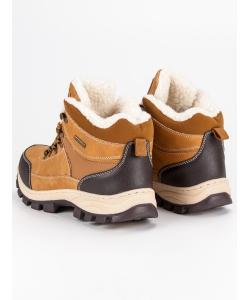 b0fafa783c8a Chlapčenské zimné hnedé topánky Chlapčenské zimné hnedé topánky