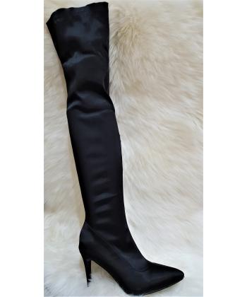 Dámske čierne čižmy nad koleno VICES e95bba0aa91
