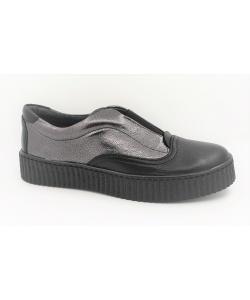 Dámske čierno-strieborné topánky