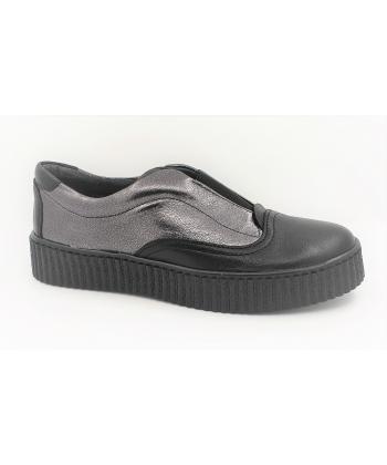 1a9e60f0faefd Dámske čierno-strieborné topánky