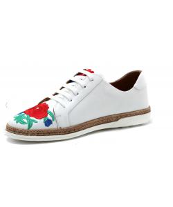 Dámske biele kožené topánky