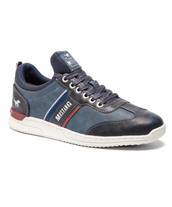 7a7133e87ca51 Pánske modré botasky MUSTANG