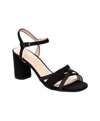 8fcb5bb4f1e9 Dámske čierne sandálky S.Barski