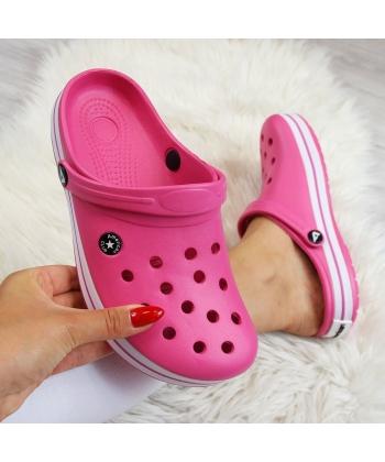 18d6b110add31 Dámske ružové crocs American