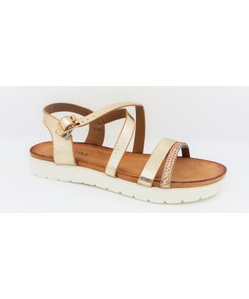 96af418ab88d2 Dámske zlaté sandále SABATINA