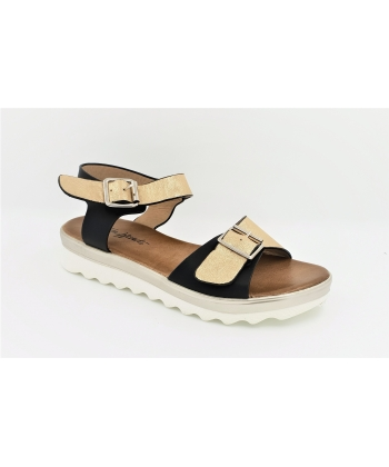 Dámske čiernozlaté sandále Wishot