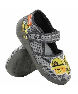 Detské sivé papučky Renbut