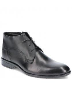 Pánske čierne zimné topánky LEADER