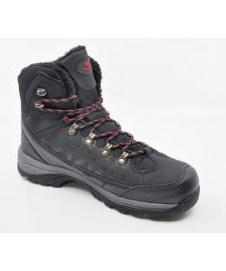 Pánske čierne trekingové topánky Atletico