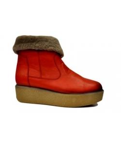 Dámske červené čižmy Lanqier