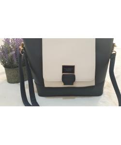 Dámska modro-biela kabelka MONNARI