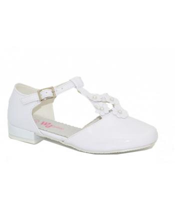 Dievčenské biele topánky Wojtylko