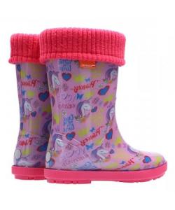 Dievčenské ružové gumáky Demar