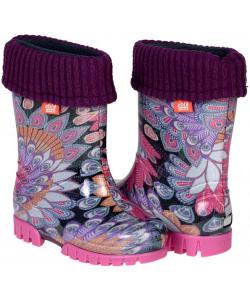 Dievčenské fialové gumáky Demar