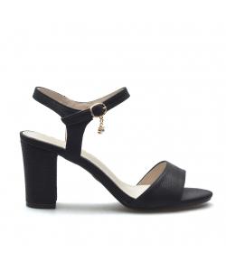 Dámske čierne sandále S.Barski