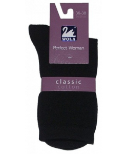Dámske čierne ponožky Coton Classic