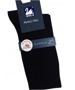 Pánske čierne bambusové ponožky WOLA