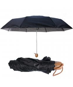 Skladací čierny dáždnik