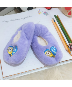 Detské fialové papuče Mimoni