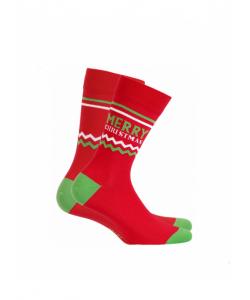 Pánske červené ponožky WOLA