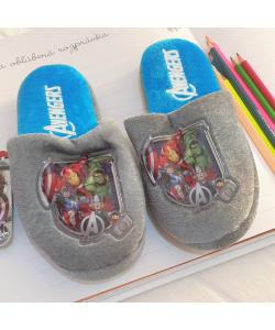 Detské sivé papuče AVENGERS