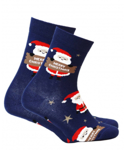 Dámske modré ponožky WOLA
